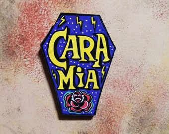 Wooden Fridge Magnet Cara Mia