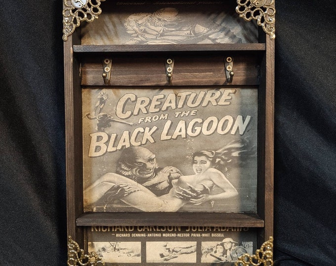 Featured listing image: Creature from the Black Lagoon Poster Key Rack