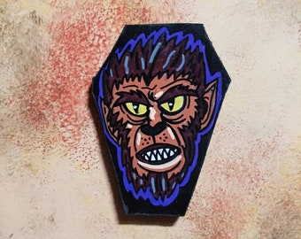 Wooden Fridge Magnet Werewolf