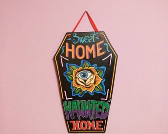Haunted Home wooden Coffin Signal