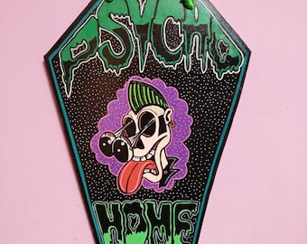 Psychobilly Home Wooden Coffin