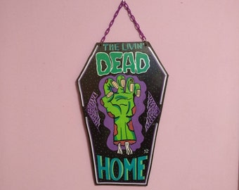 The Livin' Dead Home wooden Coffin Signal