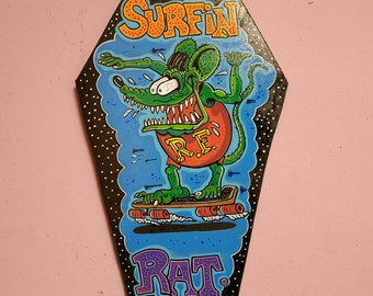 Surfin'Rat wooden Coffin Signal
