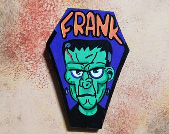 Wooden Fridge Magnet Frank Monster
