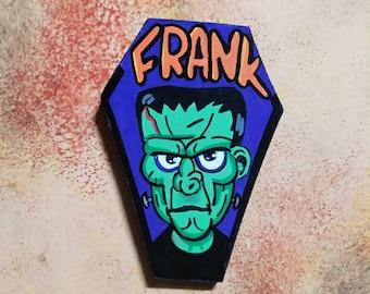 Wooden Fridge Magnet Frank Monster