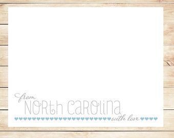 Printable State Stationery - DIY State Stationary