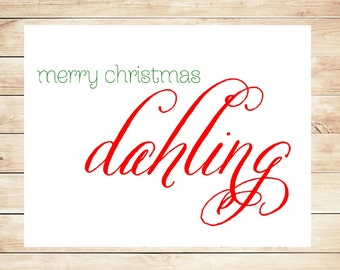 Printable Christmas Card - Instant Download Christmas Card - Merry Christmas Card