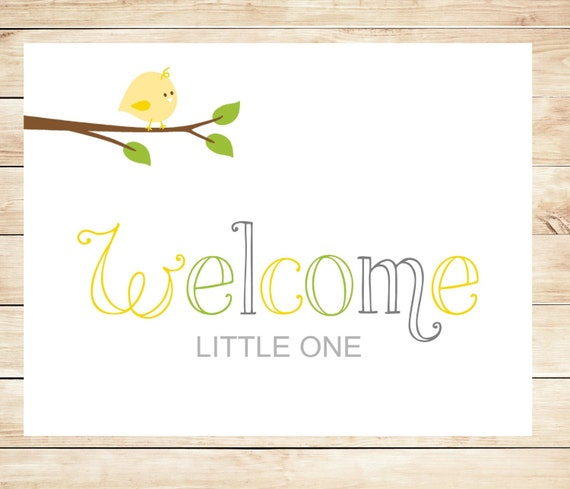 Printable New Baby Gender Neutral Welcome Card Instant Etsy