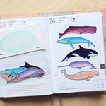 Transparent whale sticker-suitable for planning and journaling
