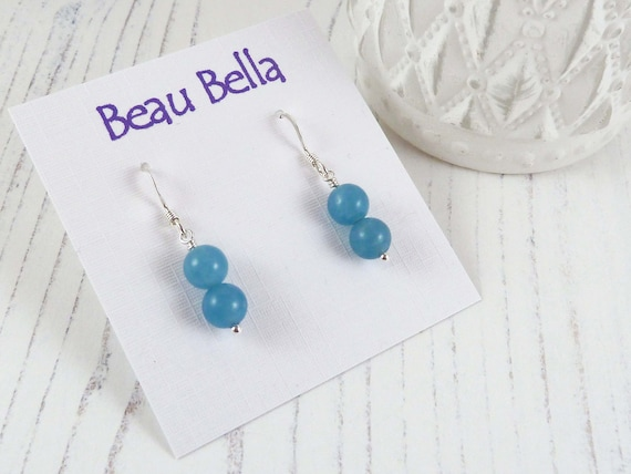 Roumanie 925 Argent Turquoise Femmes Bijoux Dangle anniversaire Pendants d/'oreilles