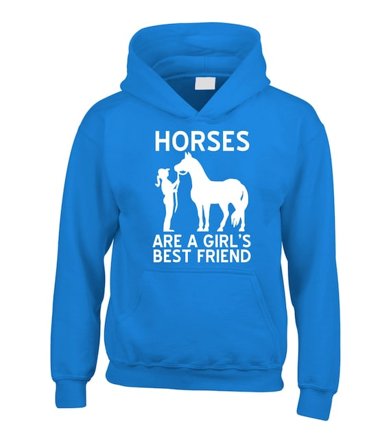 Talk To The Hoof Girls Horse Riding Hoodie Equestrian Pony Gift  Sizes 5-13 Ye