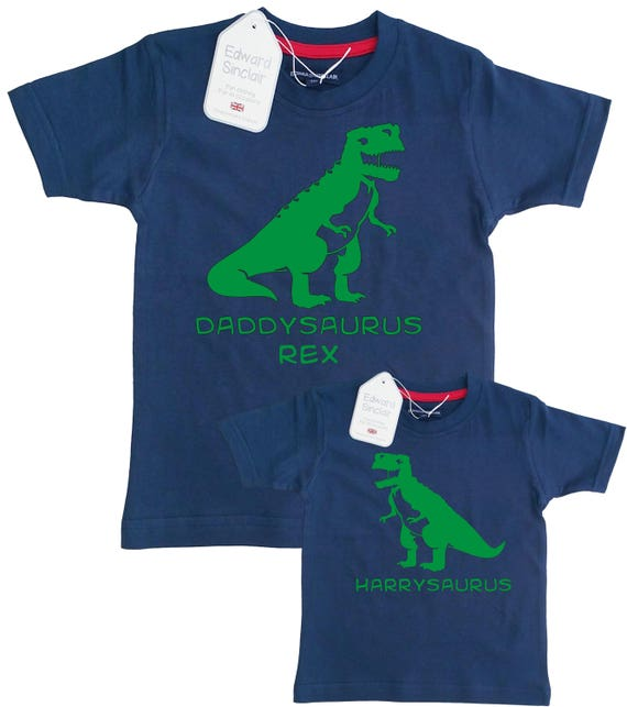 Daddysaurus And Personalized Saurus Matching Father Son