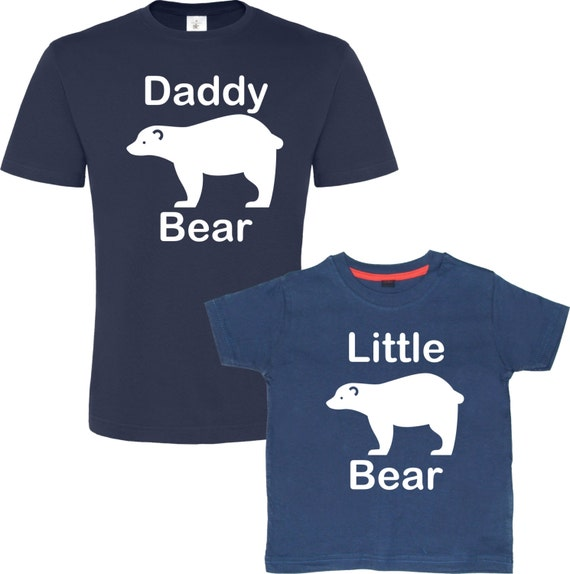 Daddy Bear Little Baby Matching Father Son