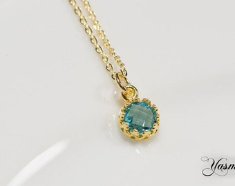 Dream Topaz faceted on a gold filled