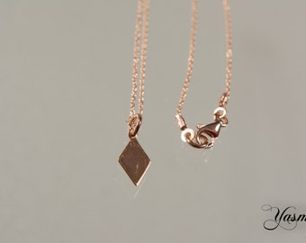 Diamond 925 Silver rose gold plated