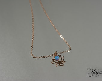 Lotus Blossom at rosegoldfilled chain