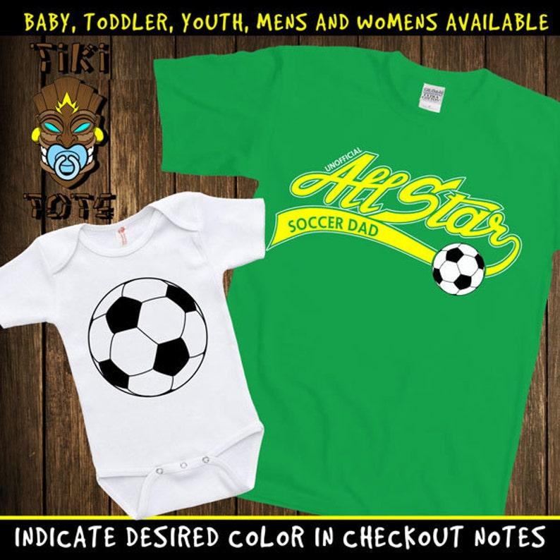 f2b8b8da1 Funny Unofficial Allstar Soccer Dad Cute Matching T-shirts | Etsy