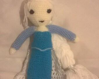 Handmade Crochet Disney's Elsa doll, gift, toy, christmas, birthday, black friday, cyber monday