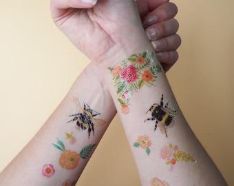 Butterfly Moth Temporary Tattoos Temporary Tattoo Set Etsy