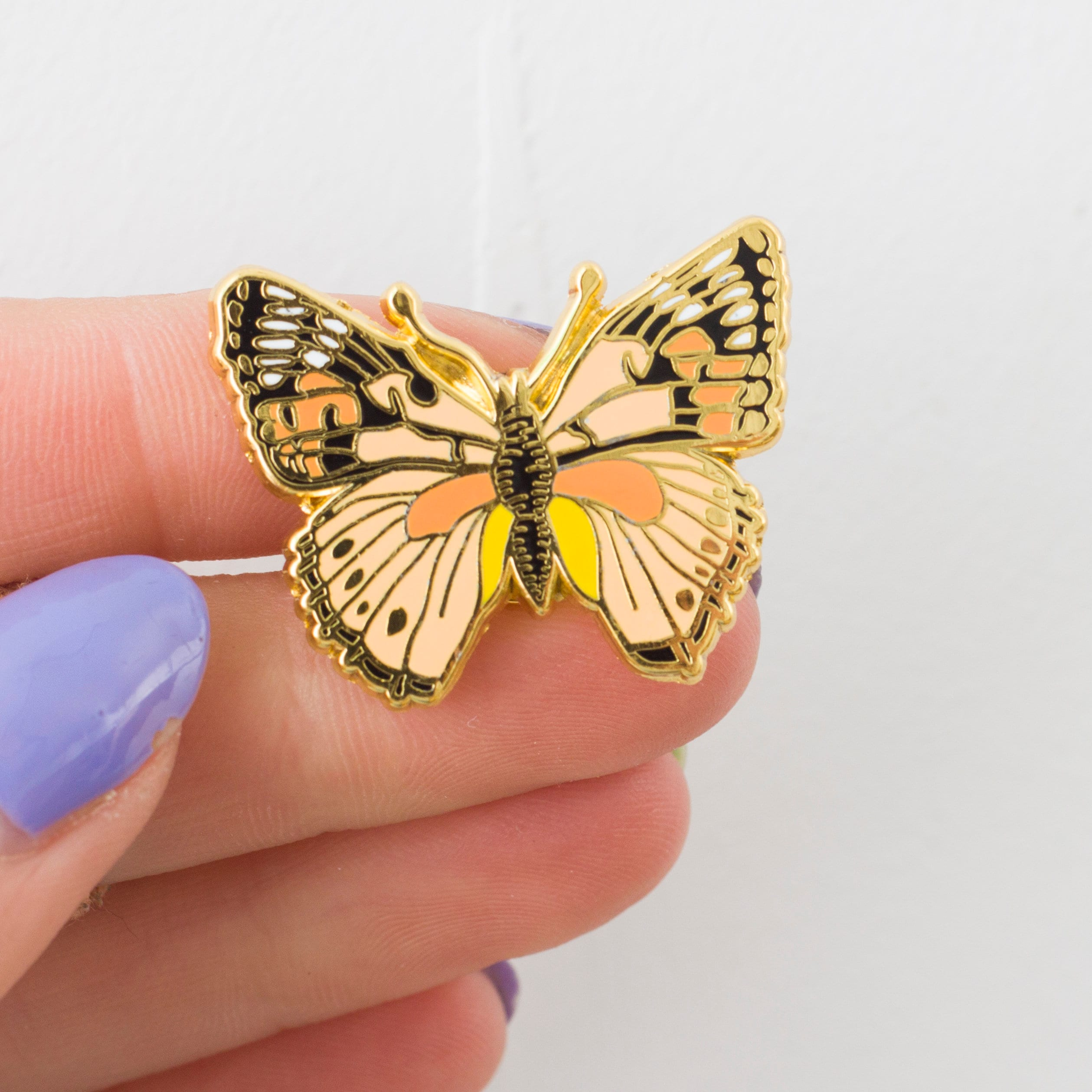 51c2ab4d2e88f British Butterfly Enamel Pin Pin Badge Hard Enamel Pin   Etsy
