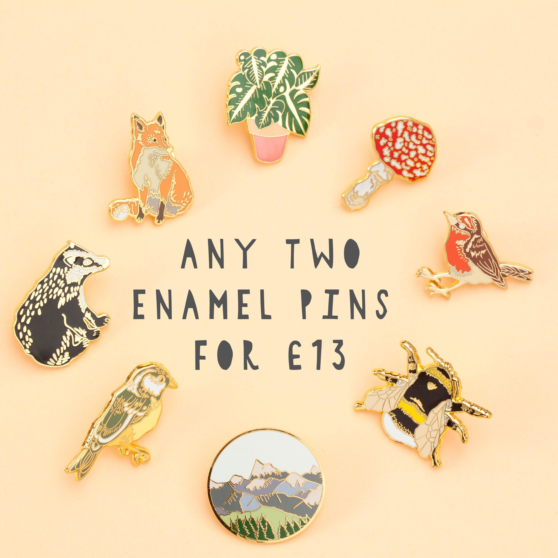 Any 2 Enamel Pins Deal Pin Badge Hard Enamel Pin Gold | Etsy
