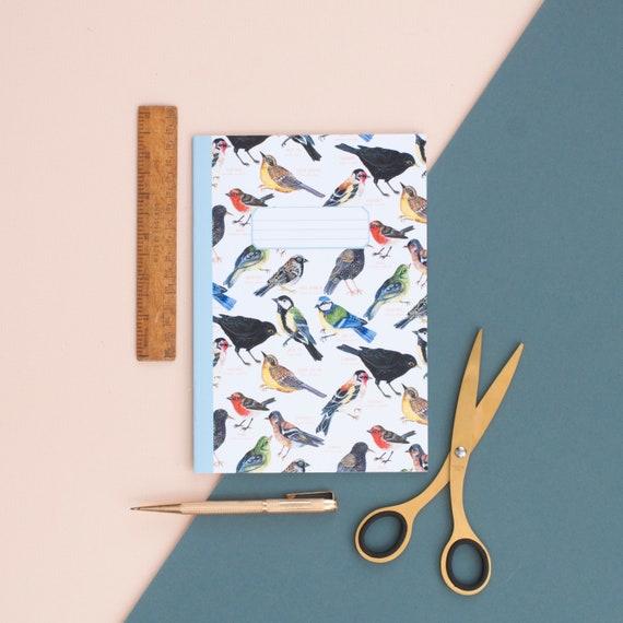 Bullet Journal Journal Notebook Illustrated A5 Notebook British Garden Birds Pattern Notebook Notepad A5 Notebook Bird Pattern