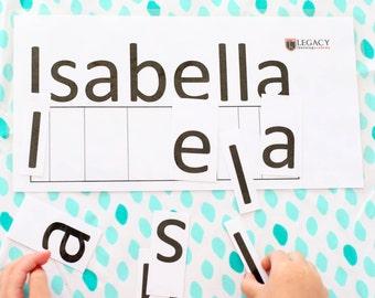 photo relating to Name Puzzle Printable named Alphabet reputation puzzle Etsy