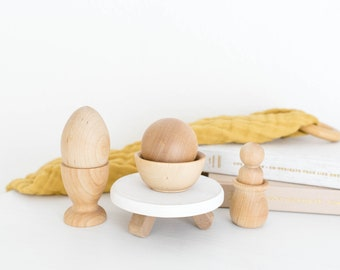 Montessori Baby Toys - Montessori Puzzle for Babies, Organic Baby Toys, Waldorf Baby Toys, Handmade Newborn Wooden Ball, First Birthday Gift