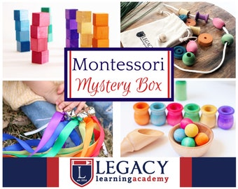 Montessori Toy Mystery Box, Montessori Materials Surprise Box,  Surprise Toys for Toddlers & Kid, Waldorf Birthday Grimms, gift ideas Sale