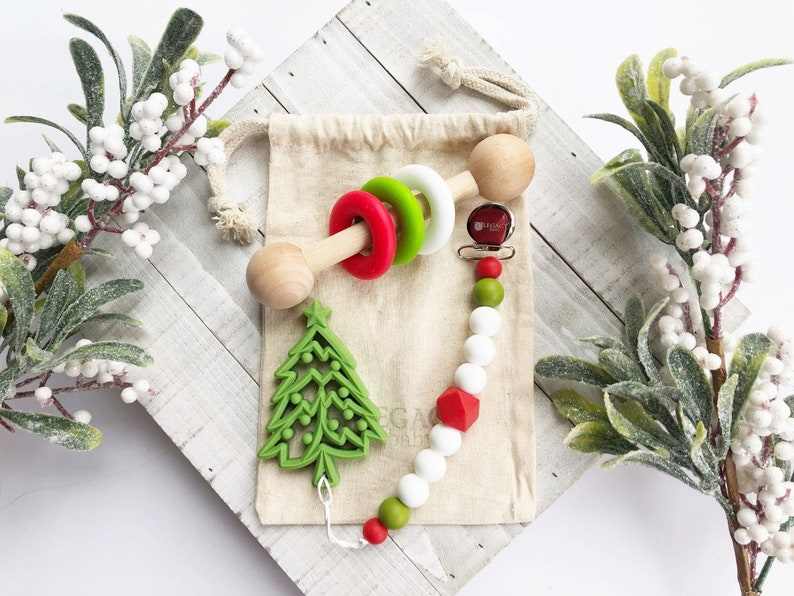 Baby's First Christmas Toys Christmas Tree Teething Toys image 1