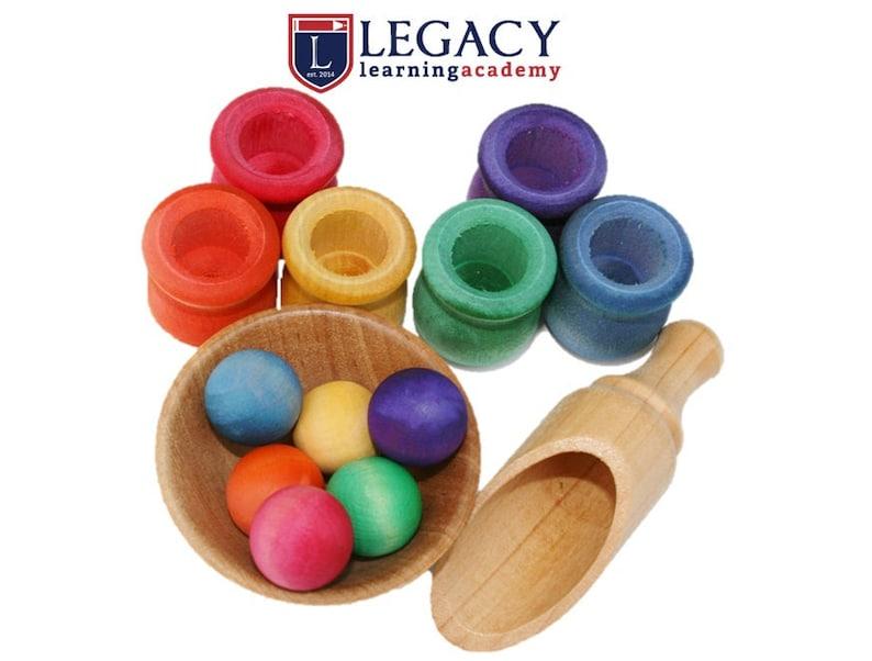Montessori Toys Montessori Ball and Pot Sorting Game Toy image 0