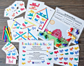 Preschool Learning Activities, Preschool Toys & Toddler Games, Farm Animal Toys for Toddlers, Homeschooling 4 Four Year Old Gift Ideas