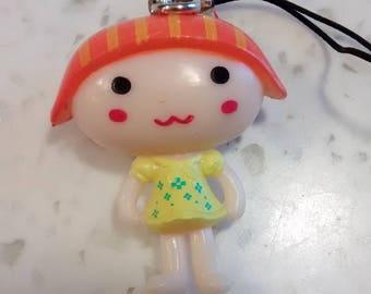 Fun gift... Kawaii SUSHI pendant Orange and yellow