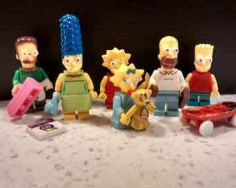 The Simpsons scene made from Lego pieces