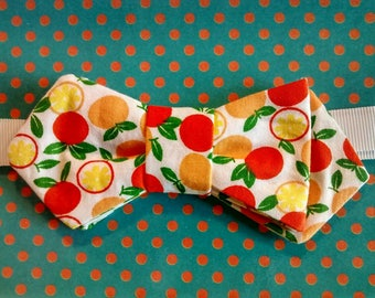 Mother's day gift... Bow tie woman... Yellow apples