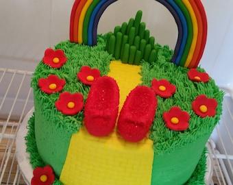 Wizard Of Oz Cake Etsy