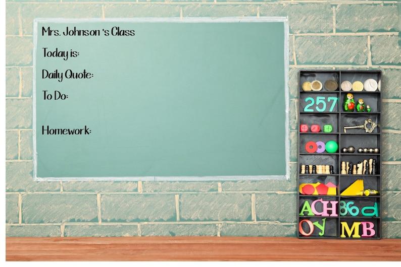 Chalkboard Classroom Decals Whiteboard Classroom Decor Classroom Vinyl Wall Decal Classroom Decorations