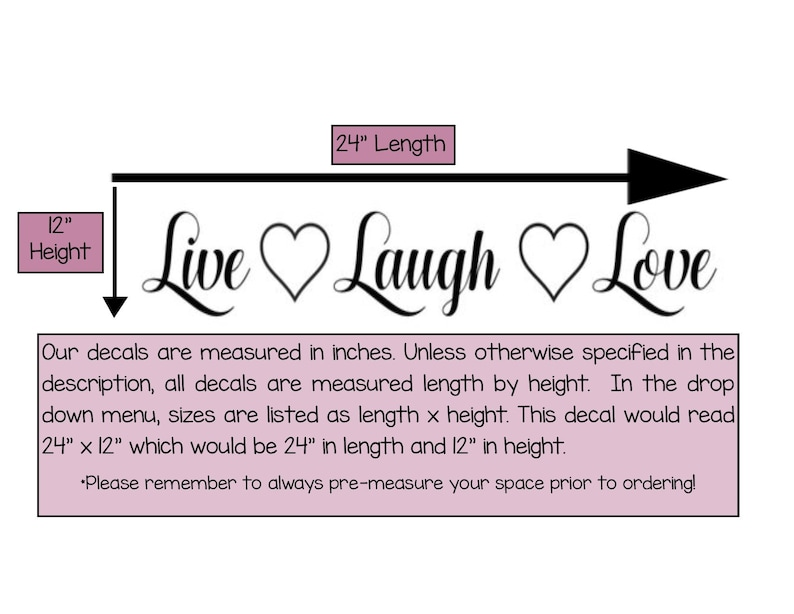 Home Decor Live Laugh Love Vinyl Wall Decal Living Room Vinyl Wall Decal