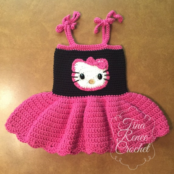Hello Kitty Dress For Baby Girl Birthday Dress Pink And Etsy