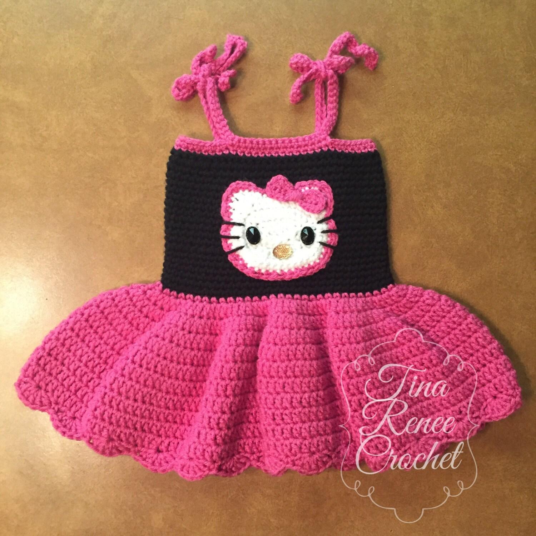 Hola Kitty vestido para niña vestido de cumpleaños rosa y