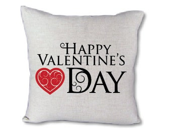 Happy Valentines Day pillow cover