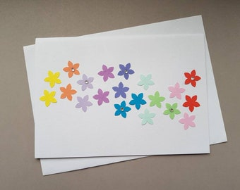 Colourful flowers - Blank - Birthday - Just to say - Sympathy - Just because -