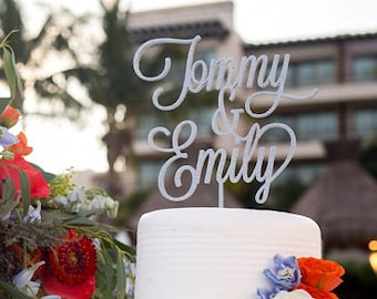 Custom Name & Name Wedding Cake Topper