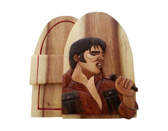 Elvis The King Of Rock Puzzle Box Jewelry Cash Gift Card Etsy