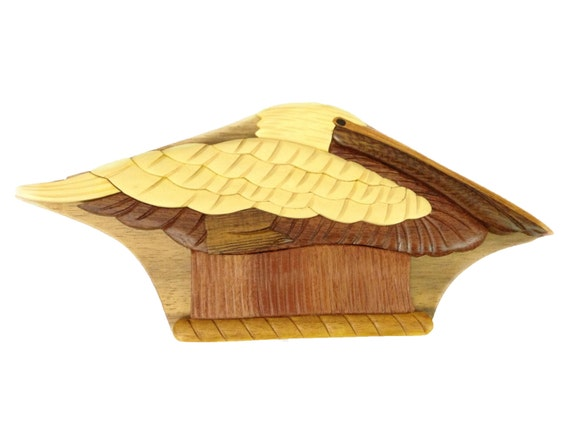 Pelican Puzzle Box Jewelry Cash Gift Card Holder Hand Etsy