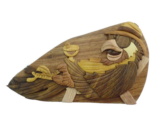 Parrot On The Beach Puzzle Box Jewelry Cash Gift Card Etsy