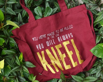 d44e9f0aa7 Loki tote bag you were made to be ruled in the end you will always kneel