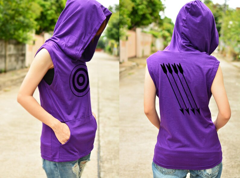 Hawkeye Archery T-shirt Hoodie With Arrow On The Back Side Sleeveless Accessories Arrow Rests