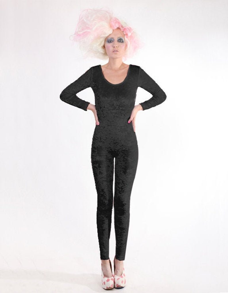 Dance Gear Michelle Childrens Velour Long Sleeved Catsuit