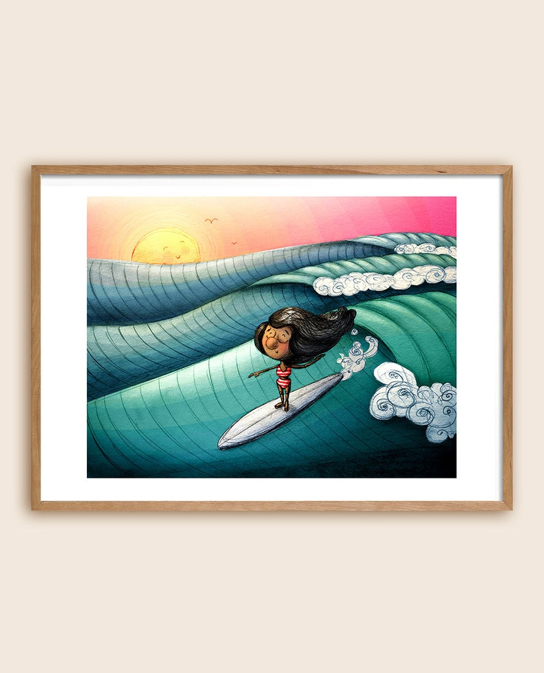 Surf Art Print  Sea Art  Beach Art  Ocean Art  image 0
